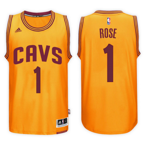 maglia basket derrick rose 1 2017 cleveland cavaliers giallo