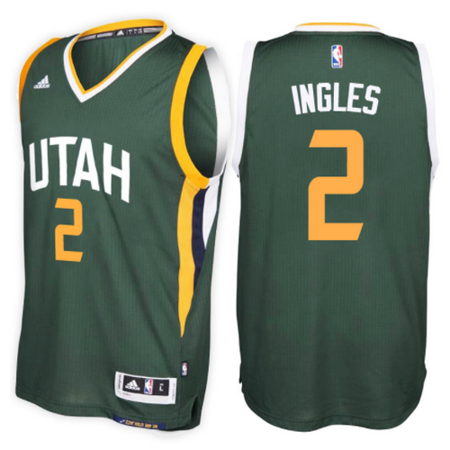 maglia nba joe ingles 2 2017 utah jazz verde