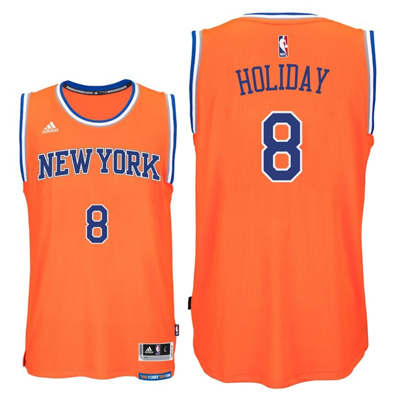 maglia justin holiday 8 2017 new york knicks arancia