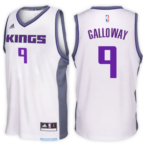 maglia langston galloway 9 2017 sacramento kings bianca