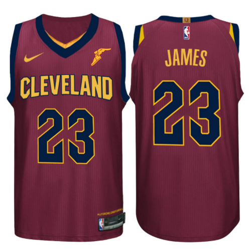 maglia basket lebron james 23 2017-2018 cleveland cavaliers rosso