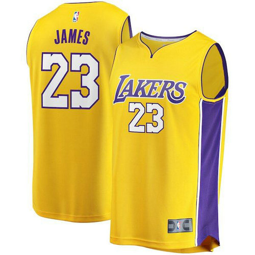 maglia lebron james 23 2018-2019 los angeles lakers Giallo