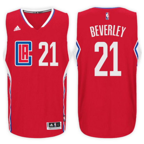 maglia patrick beverley 21 2017 los angeles clippers rosso