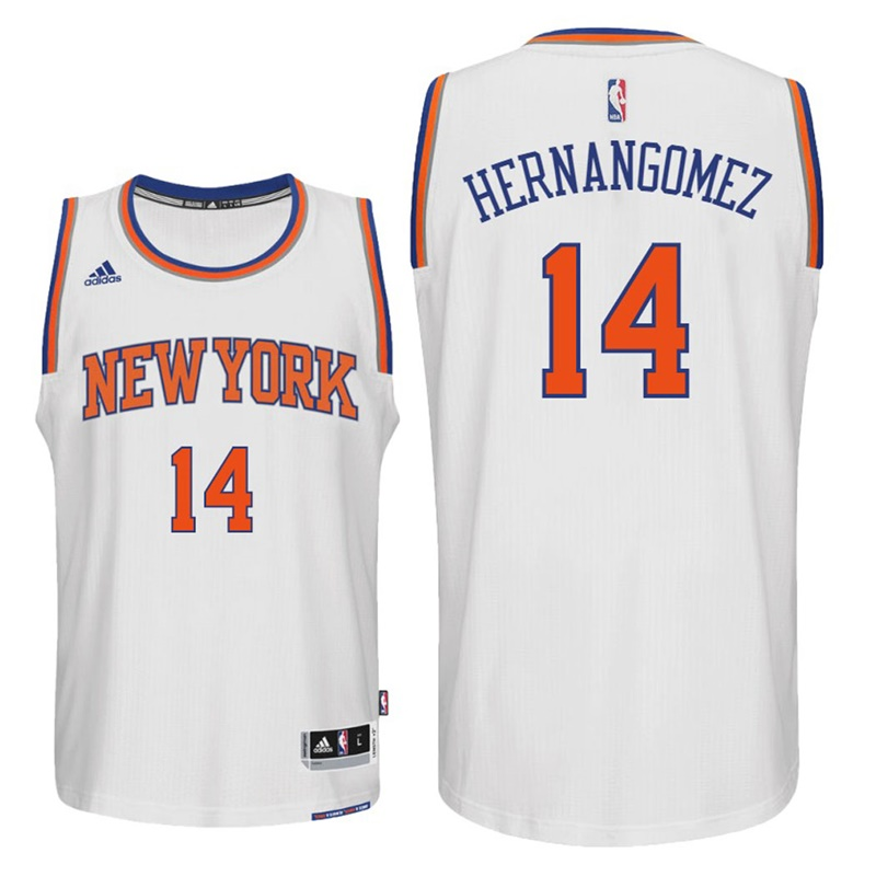 maglia willy hernangomez 14 2017 new york knicks bianca