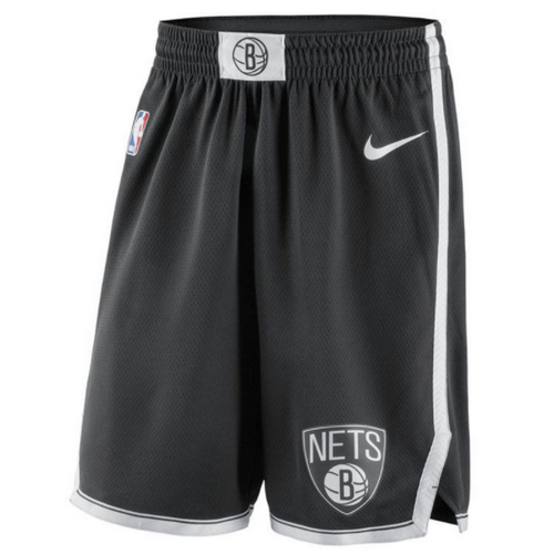 pantaloncini brooklyn nets 2017-2018 nero
