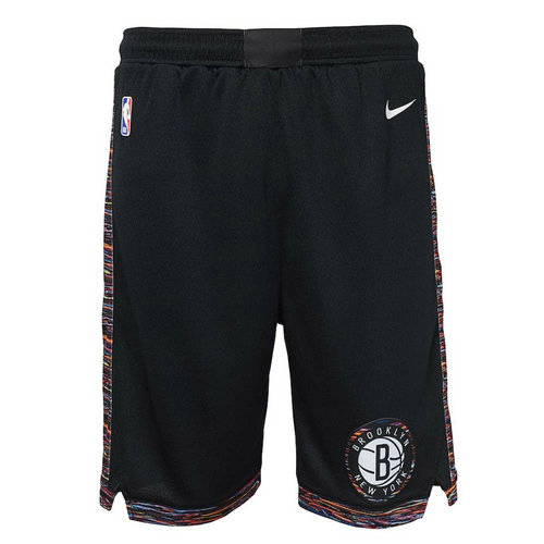 pantaloncini brooklyn nets 2018-2019 nero