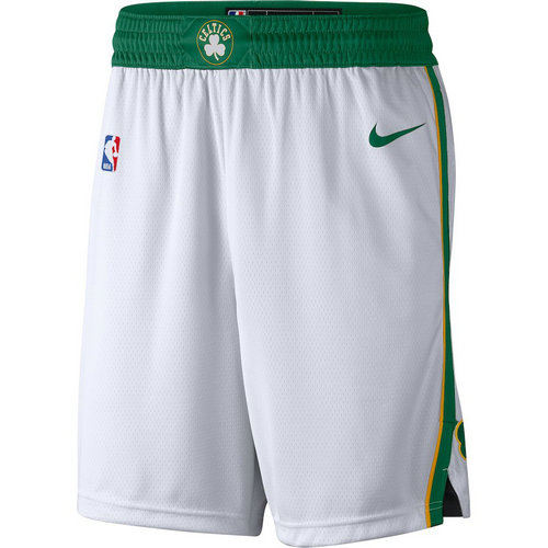 pantaloncini nba basket boston celtics 2017-2018 bianca