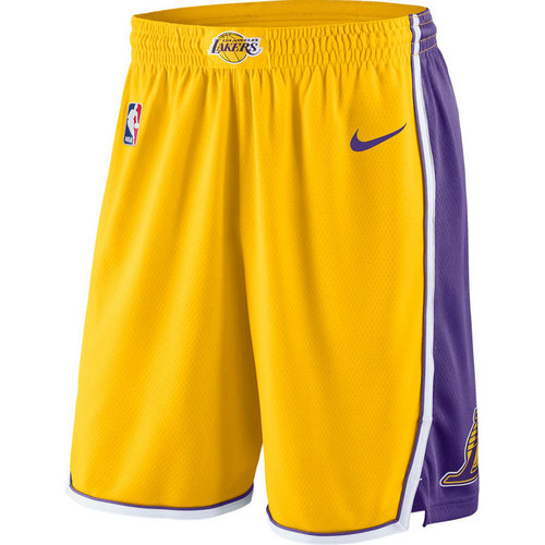 pantaloncini nba basket los angeles lakers 2017-2018 giallo