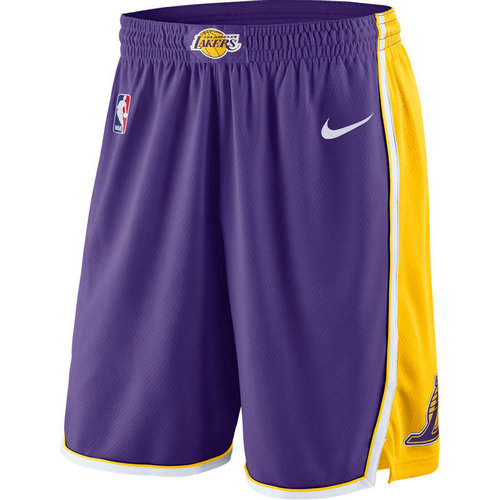 pantaloncini nba basket los angeles lakers 2017-2018 porpora