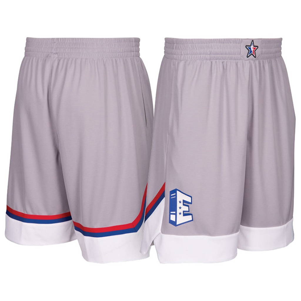 pantaloncini corti uomo basket nba all star 2017 grigio